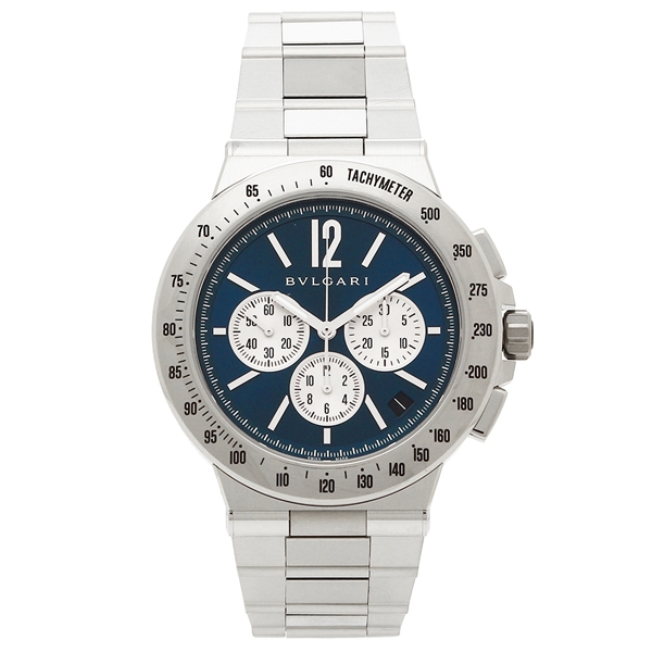 BVLGARI 腕時計 メンズ ブルガリ DG41C3SSDCHTA ブルー シルバー