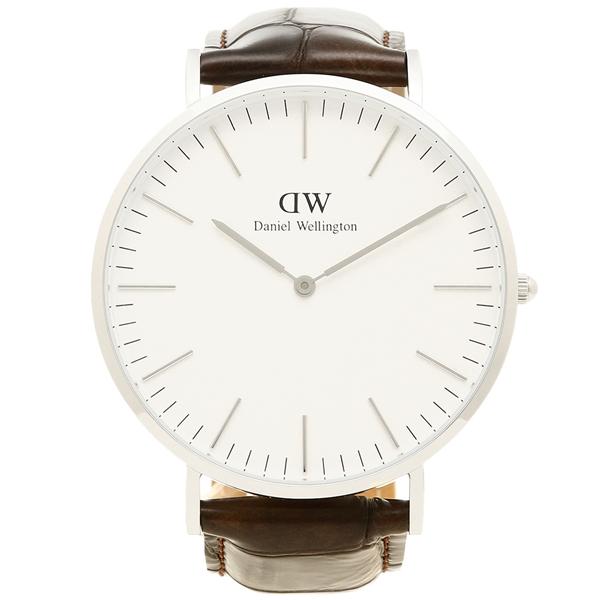 Daniel Wellington ダニエルウェリントン 腕時計 メンズ DW00100025 ヨークブラウン シルバー ホワイト