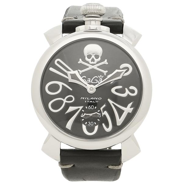 GAGA MILANO ガガミラノ 腕時計 メンズ 5010ART02S BLK シルバー ブラック