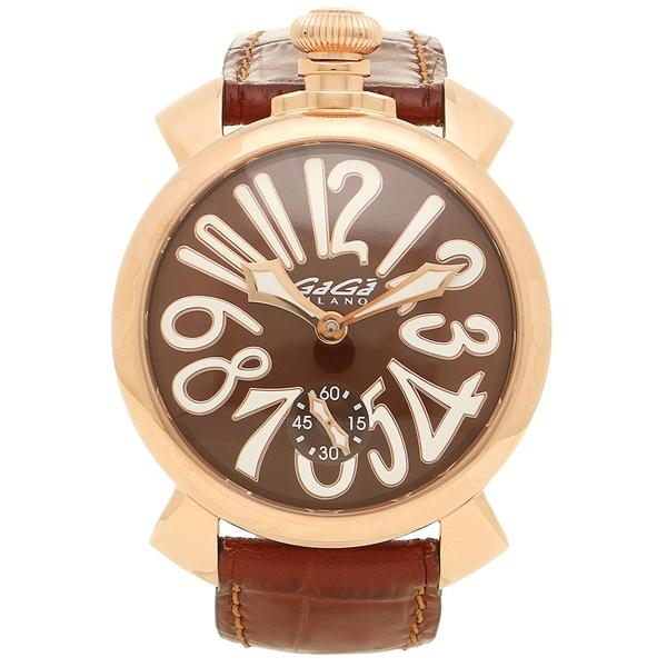 GAGA MILANO ガガミラノ 腕時計 メンズ 5011.01S BRW ブラウン イエローゴールド