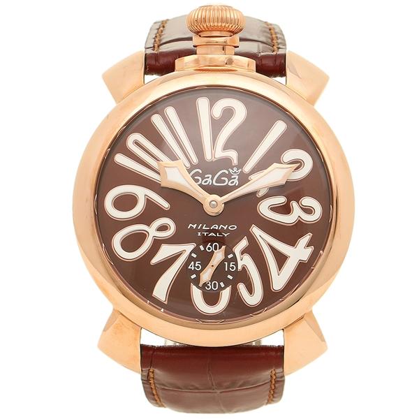 GAGA MILANO ガガミラノ 腕時計 メンズ 5011.01S BRW ブラウン ピンクゴールド