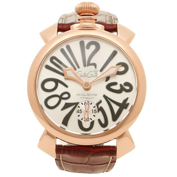 GAGA MILANO ガガミラノ 腕時計 メンズ 5011.06S BRW ブラウン シルバー ローズゴールド