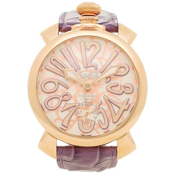 GAGA MILANO ガガミラノ 腕時計 メンズ 5011MOSAICO01S CHERY パープル モザイク ローズゴールド