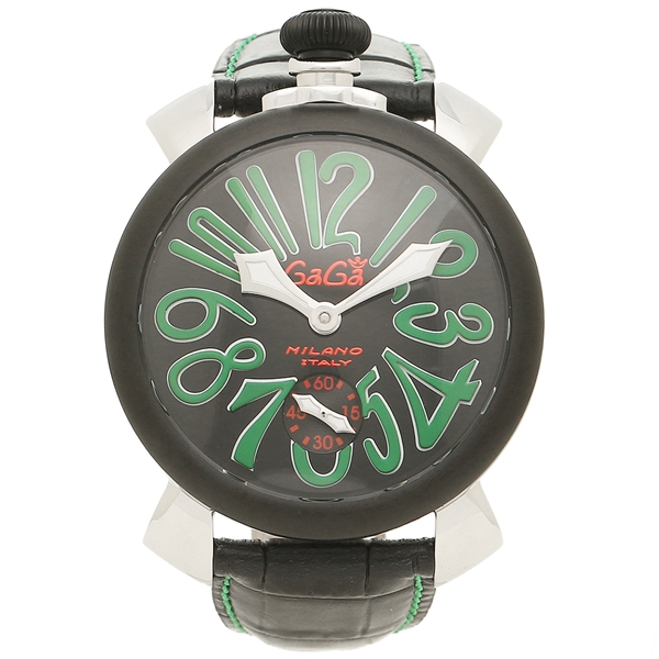 ガガミラノ 腕時計 メンズ GAGA MILANO 5013.02S BLK シルバー ブラック グリーン
