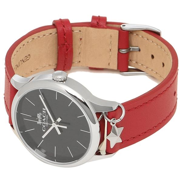 82d5149f5410 ショッピング · レディース腕時計 · COACH シルバー ブラック レッド RD/BK W1549 アウトレット レディース 腕時計 コーチ