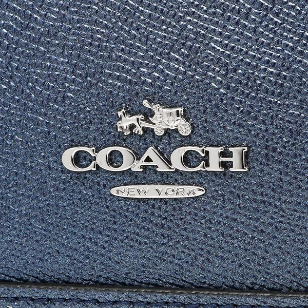 COACHコーチハンドバッグショルダーバッグアウトレットレディースF22315SVLBIメタリックネイビー