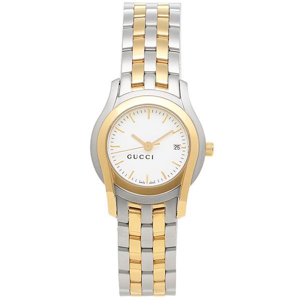 グッチ 時計 レディース GUCCI YA55520 Gクラス 腕時計 ウォッチ ホワイト/シルバー/イエローゴールド