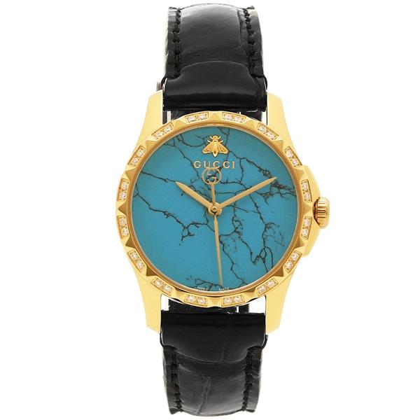 GUCCI 腕時計 レディース グッチ YA126560 ブルー イエローゴールド ブラック