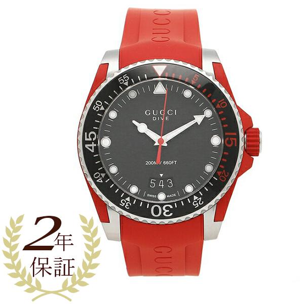 GUCCI 腕時計 メンズ グッチ YA136309 ?464486 I16X0 8561 ブラック シルバー レッド