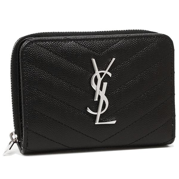 SAINT LAURENT PARIS サンローランパリ 二つ折り財布 レディース 403723 BOW02 1000 ブラック
