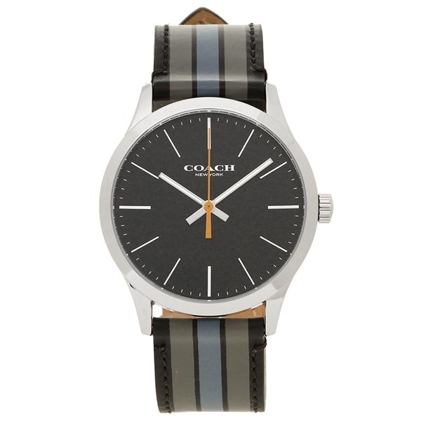 アウトレット COACH コーチ 腕時計 メンズ W1545 D9B シルバー ブラック グレー