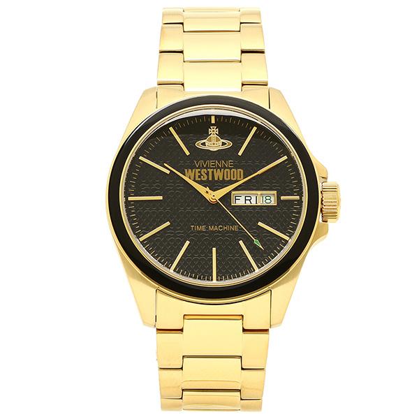 ヴィヴィアンウエストウッド 腕時計 VIVIENNEWESTWOOD VV063GD ブラック/ゴールド メンズウォッチ