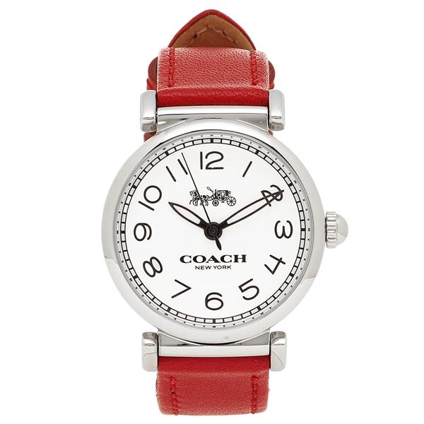 COACH 腕時計 レディース コーチ 14502861 ホワイト シルバー レッド