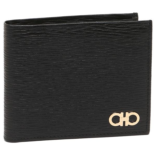 Salvatore Ferragamo 折財布 メンズ フェラガモ 66A065 0685980 001 ブラック
