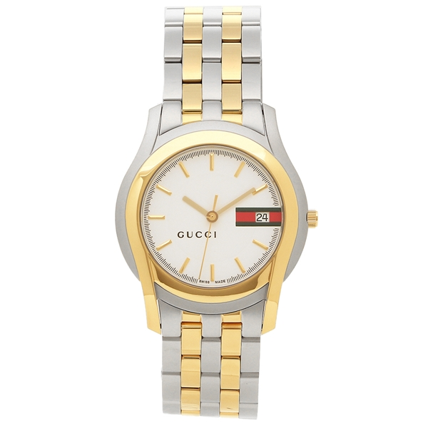 GUCCI watch men Gucci YA055313 silver yellow gold