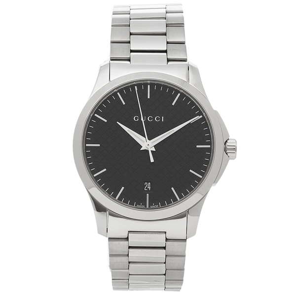 GUCCI 腕時計 メンズ グッチ YA1264051 シルバー ブラック