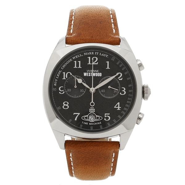 VIVIENNE WESTWOOD 腕時計 メンズ ヴィヴィアンウエストウッド VV176BKTN ブラック シルバー ブラウン