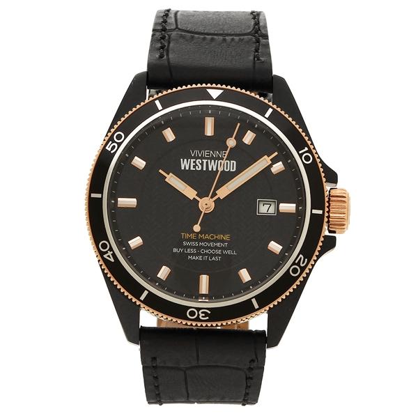 VIVIENNE WESTWOOD 腕時計 メンズ ヴィヴィアンウエストウッド VV181RSBK ブラック ローズゴールド