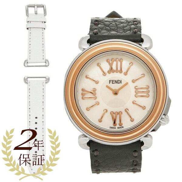 FENDI 腕時計 レディース フェンディ F8012345H0+SSN18R06S ブラック/ローズゴールド