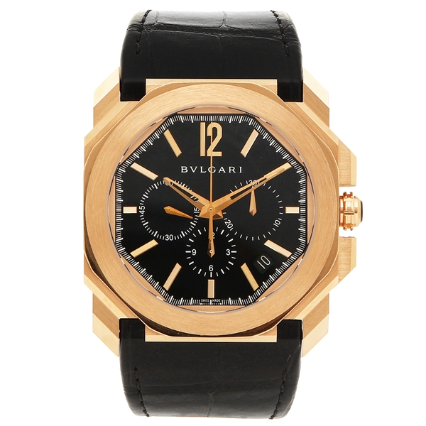 BVLGARI 腕時計 メンズ ブルガリ BGOP41BGLDCH ブラック ローズゴールド