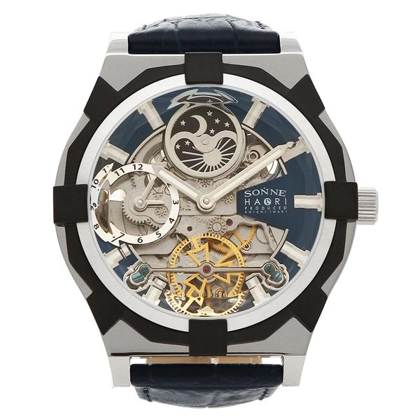 SONNE 腕時計 メンズ ゾンネ H019SS-NV ネイビーブルー シルバー
