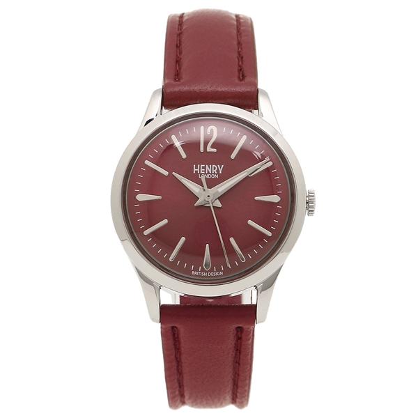 HENRY LONDON 腕時計 レディース ヘンリーロンドン HL25S0303 ボルドーレッド シルバー