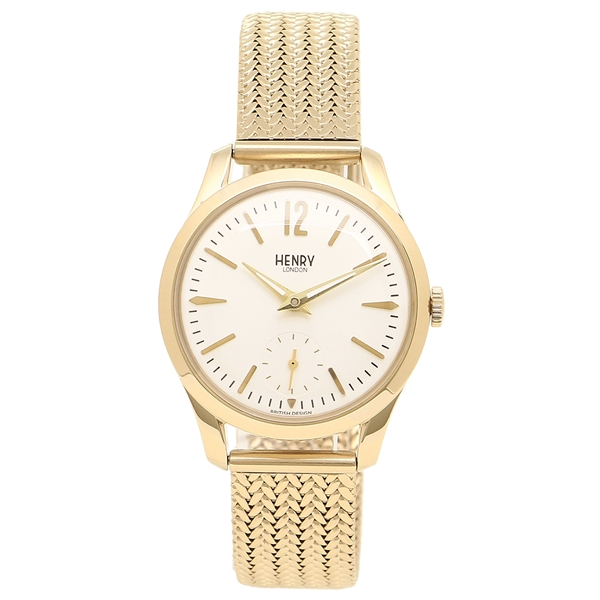腕時計 レディース アイボリー ヘンリーロンドン LONDON イエローゴールド HL30UM0004 HENRY