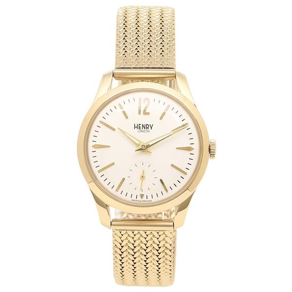 HENRY LONDON 腕時計 レディース ヘンリーロンドン HL30UM0004 アイボリー イエローゴールド
