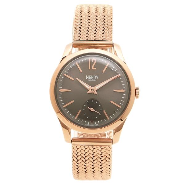 HENRY LONDON 腕時計 レディース ヘンリーロンドン HL30UM0116 グレー ピンクゴールド