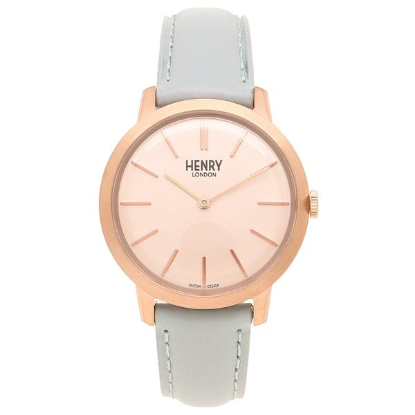 1d190e94cd22 HENRY LONDON 腕時計 レディース ヘンリーロンドン HL34-S-0228 ライトブルー ピンクゴールド 。