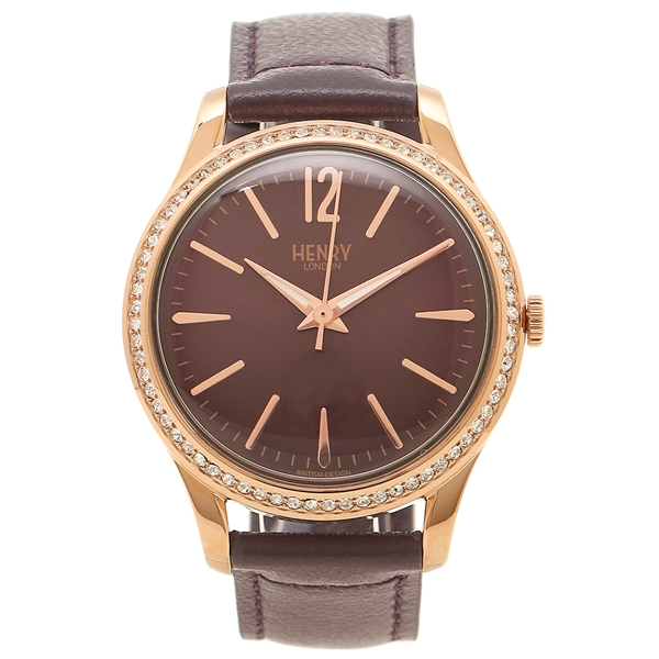 LONDON HENRY HL34-SS-0198 ピンクゴールド 腕時計 レディース ヘンリーロンドン パープル