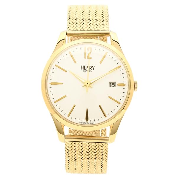 メンズ イエローゴールド ヘンリーロンドン レディース HL39M0008 LONDON 腕時計 アイボリー HENRY