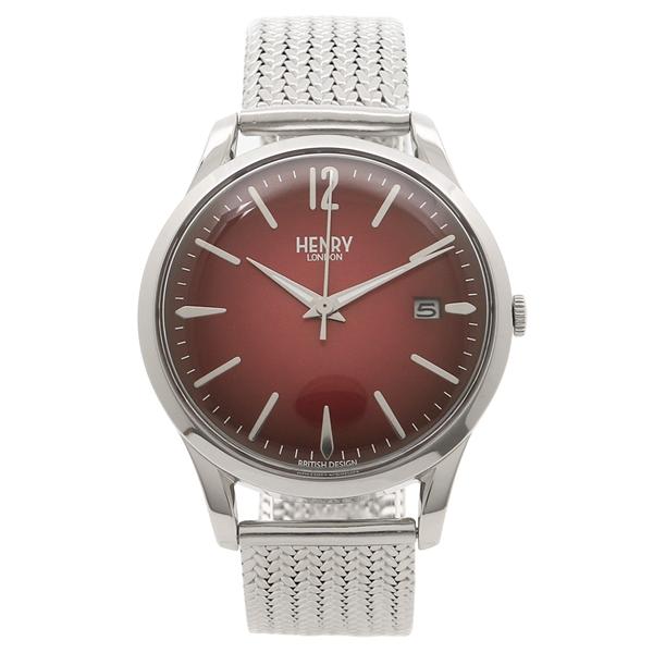 HENRY LONDON 腕時計 レディース メンズ ヘンリーロンドン HL39-M-0097 シルバー レッド