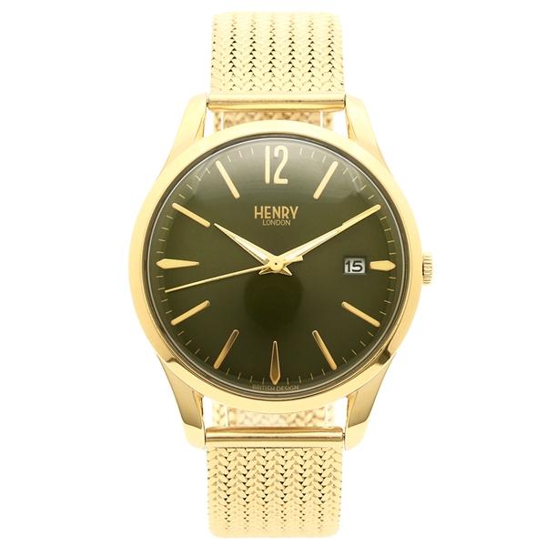 HENRY LONDON 腕時計 レディース メンズ ヘンリーロンドン HL39M0102 イエローゴールド グリーン