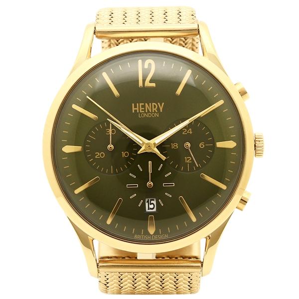 HENRY LONDON 腕時計 メンズ ヘンリーロンドン HL41CM0108 グリーン イエローゴールド