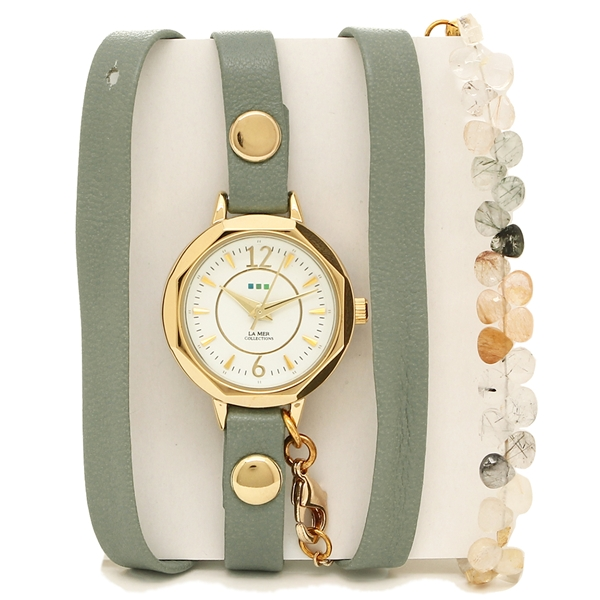 LA MER COLLECTIONS 腕時計 レディース ラメール コレクションズ LAMER804 グリーン ゴールド ホワイト