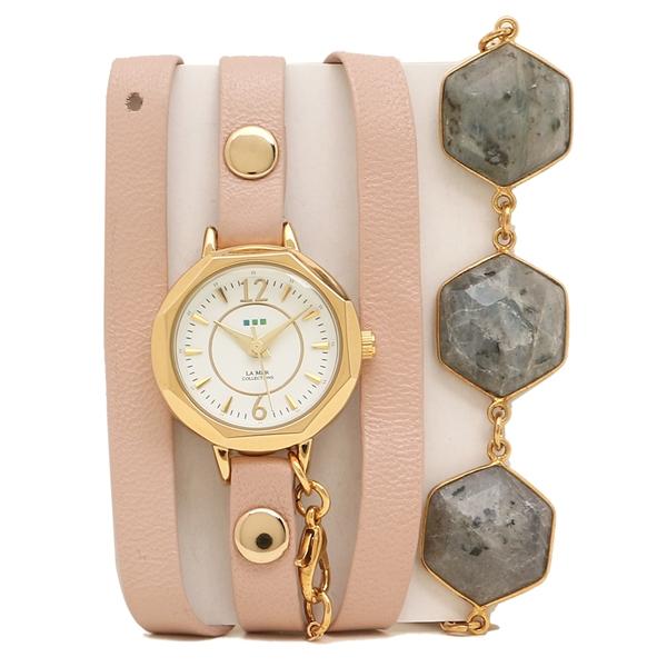 LA MER COLLECTIONS 腕時計 レディース ラメール コレクションズ LAMER808 ピンク ゴールド ホワイト