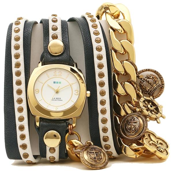 LA MER COLLECTIONS 腕時計 レディース ラメール コレクションズ LMCW2003 ブルー ホワイト ゴールド ホワイト