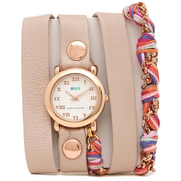LA MER COLLECTIONS 腕時計 レディース ラメール コレクションズ LMCW9006 ピンク ゴールド ホワイト