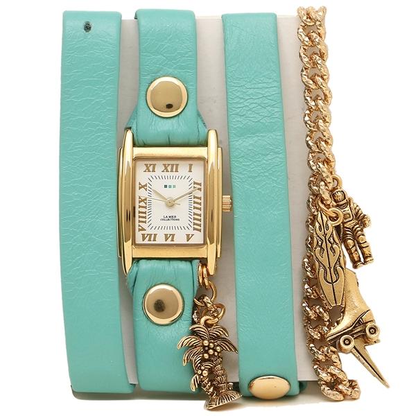 LA MER COLLECTIONS 腕時計 レディース ラメール コレクションズ LMCW9009 ライトグリーン ゴールド ホワイト