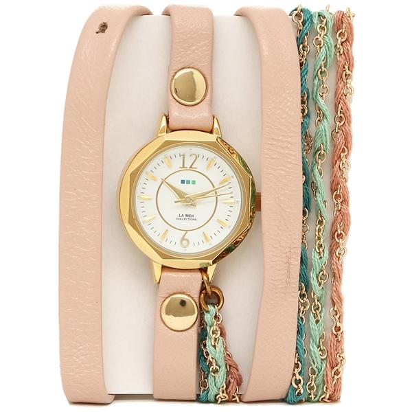 LA MER COLLECTIONS 腕時計 レディース ラメール コレクションズ LMDEL1005 ピンク ゴールド ホワイト