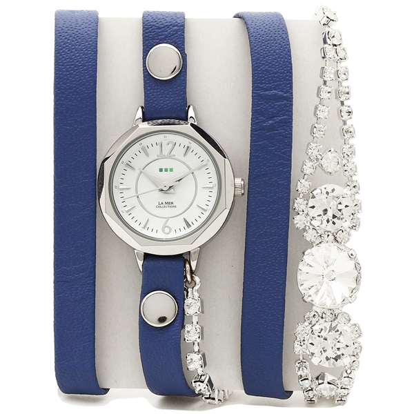 LA MER COLLECTIONS 腕時計 レディース ラメール コレクションズ LMDELCRY3501 ブルー シルバー ホワイト