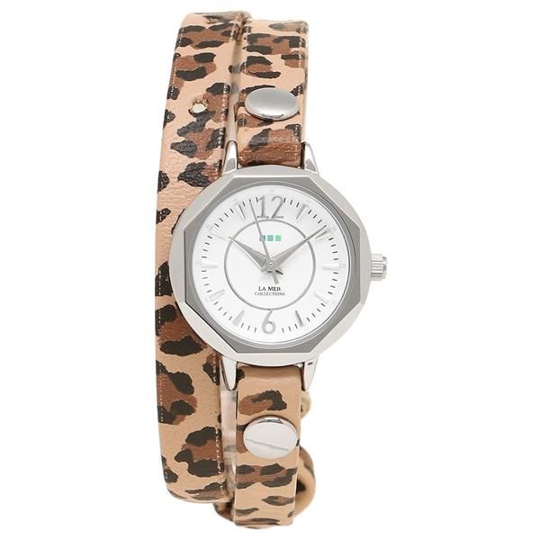 LA MER COLLECTIONS 腕時計 レディース ラメール コレクションズ LMDELMARDW1505 ブラウン シルバー ホワイト
