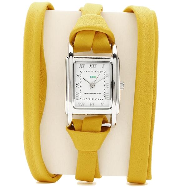 LA MER COLLECTIONS 腕時計 レディース ラメール コレクションズ LMMILWOOD20173 イエロー シルバー ホワイト