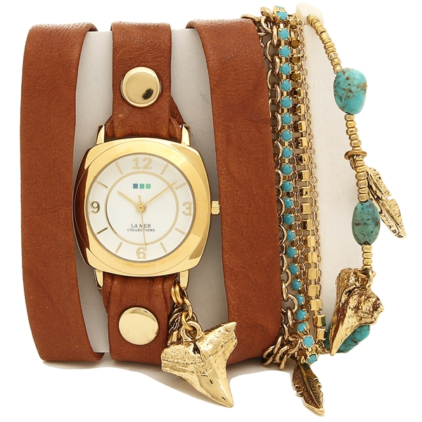 LA MER COLLECTIONS 腕時計 レディース ラメール コレクションズ LMMULTI2005 ブラウン ゴールド ホワイト