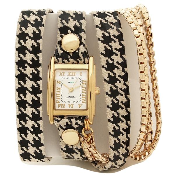 LA MER COLLECTIONS 腕時計 レディース ラメール コレクションズ LMMULTI2015 ブラック ゴールド ホワイト