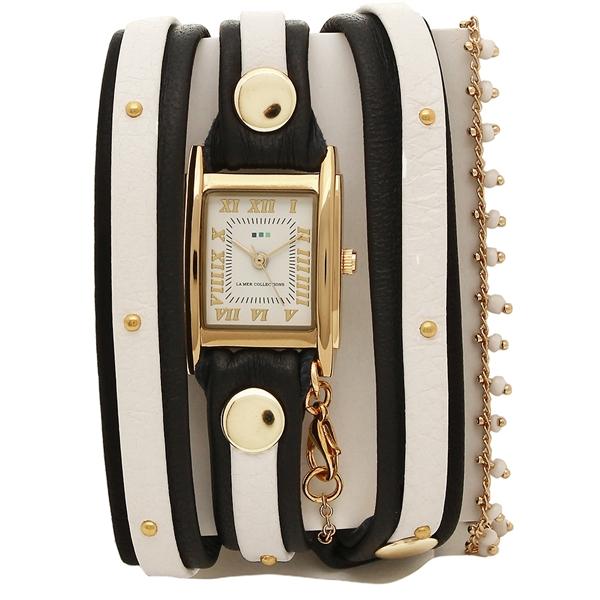 LA MER COLLECTIONS 腕時計 レディース ラメール コレクションズ LMMULTI2017GS2 ブラック ゴールド ホワイト