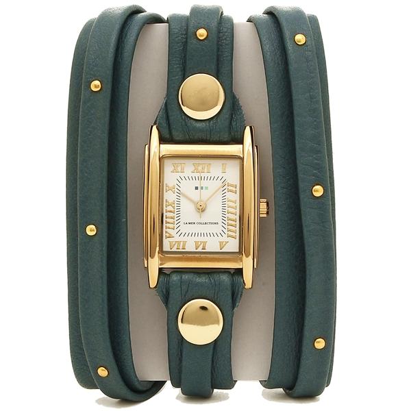 LA MER COLLECTIONS 腕時計 レディース ラメール コレクションズ LMMULTI2017GS5 グリーン ゴールド ホワイト