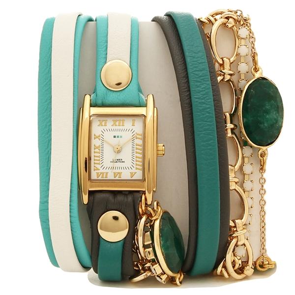 LA MER COLLECTIONS 腕時計 レディース ラメール コレクションズ LMMULTI2100 グリーン ゴールド ホワイト