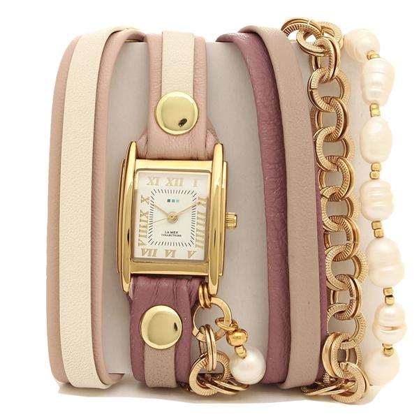 LA MER COLLECTIONS 腕時計 レディース ラメール コレクションズ LMMULTI2104 ピンク ゴールド ホワイト
